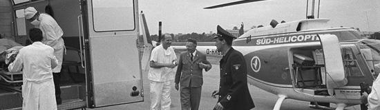 Hand in Hand arbeiten bodengebundene Kräfte und RTH-Besatzung zusammen (hier bei einer Landung auf der Münchner Theresienwiese)