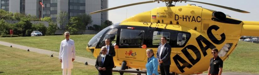von li.: P. Grützner (BGU), R. Lewentz (Minister des Innern und für Sport in RLP), M. González (DRK RLP), S. Dieffenbach (Geschäftsführerin BGU), M. Münzberg (BGU), R. Neu (ADAC Luftrettung)