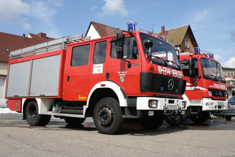 Ein deutsches Feuerwehrfahrzeug
