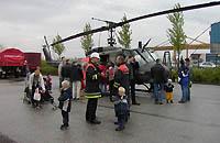 Publikumsmagnet Hubschrauber; hier die Bell UH-1D der Luftwaffe