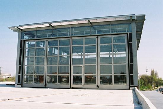Noch nicht bezogen: Der neue Hangar in Rheine