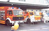 Feuerwehr am Klinikum