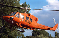 Die bundeseigene Bell 212 mit der Kennung D-HBZT