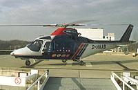 Agusta 109 MAX (D-HAAB) auf dem Dachlandeplatz der Uniklinik Essen