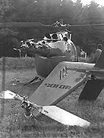 Bei einem Unfall erlitt die BO 105 einen schweren Schaden.