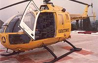 Gelbe BO105 des Katastrophenschutzes