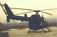 BO 105 des BGS als Rettungshubschrauber in Kassel