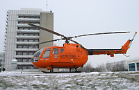 BO 105 des BGS als Rettungshubschrauber in Nordhausen