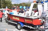 """Feier für """"Christoph 8"""": DLRG mit Rettungsboot"""