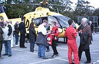 ADAC Luftrettung war mit einer EC 135 vor Ort