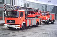 """Feier für """"Christoph 8"""": Feuerwehr mit Drehleiter u.a."""