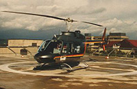 D-HHMM, Nachfolger der Bell 205, 1995 am Herzzentrum Bad Oeynhausen