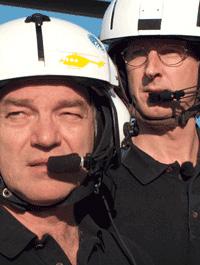 Von der Fliegercrew zu Hauptdarstellern einer Fernsehdokumentation...