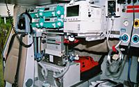 Als bundesweit erstes Luftrettungsmittel im Dual Use Einsatz: Christoph 77. Hier das Innenleben der Maschine