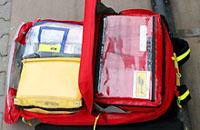 """Geöffnet: Eine Tasche des """"Second Attack""""-Rucksacks"""