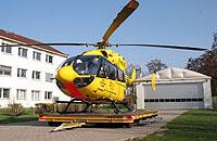 Die Einsatzmaschine vom Typ EC 145 in Mainz