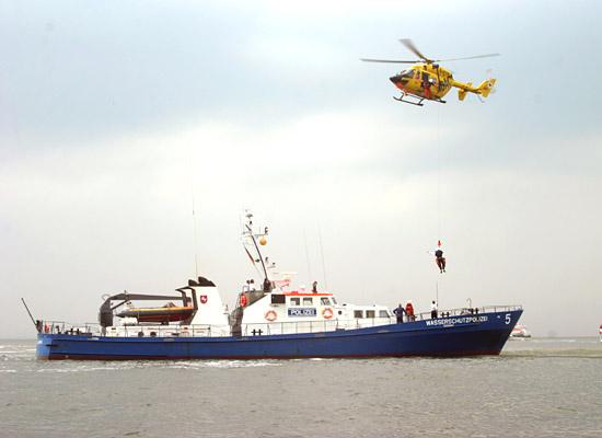 Diffiziles Zusammenspiel mit der Schiffsbesatzung der Polizei
