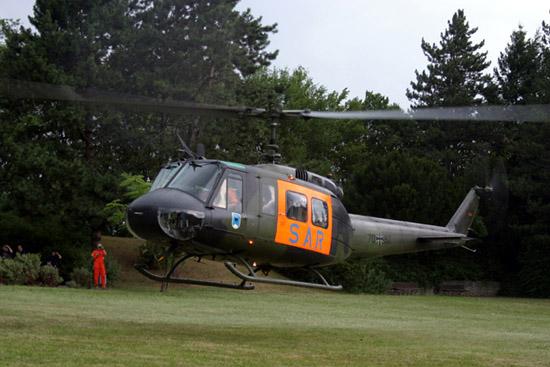 Zu Besuch: SAR-Hubschrauber der Luftwaffe aus Malmsheim in Leonberg, hier beim Start