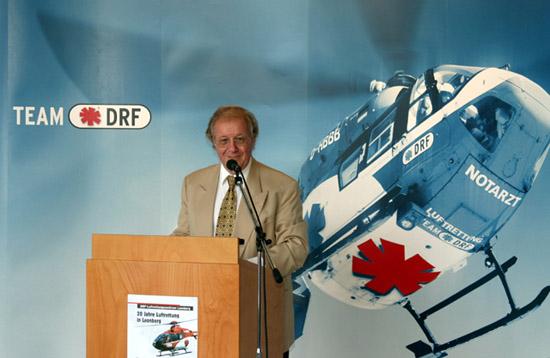 Siegfried Steiger, DRF-Ehrenpräsident bei seiner Festrede