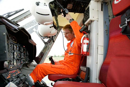 Startklar im Cockpit