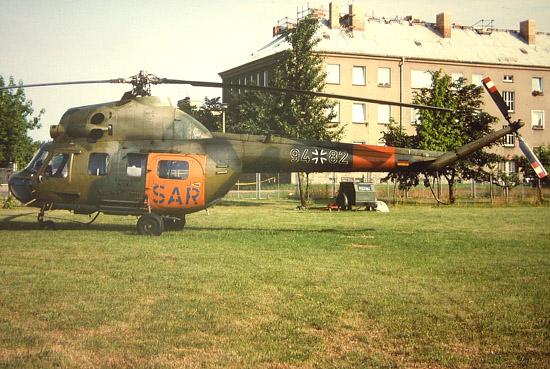 Die Mi-2 des SAR-Kommandos am Standort Senftenberg