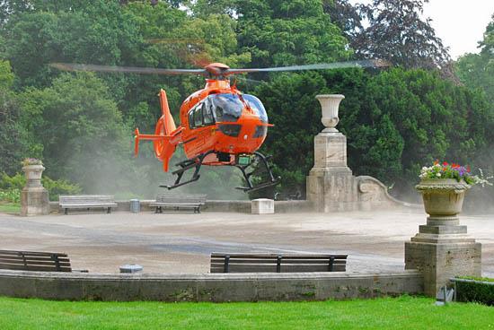 Landung des neuen Einsatzhubschraubers in Hannover