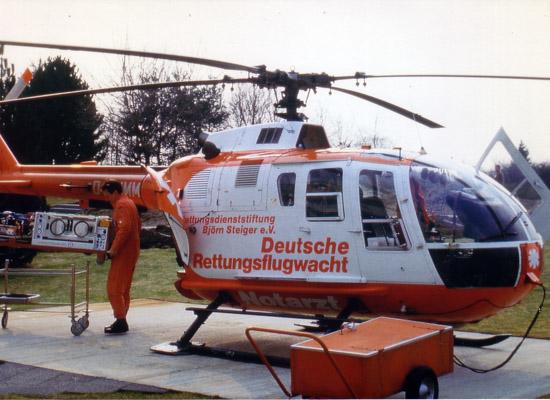 """Im November 1982 bekommt """"Christoph 43"""" erstmals eine BO 105"""
