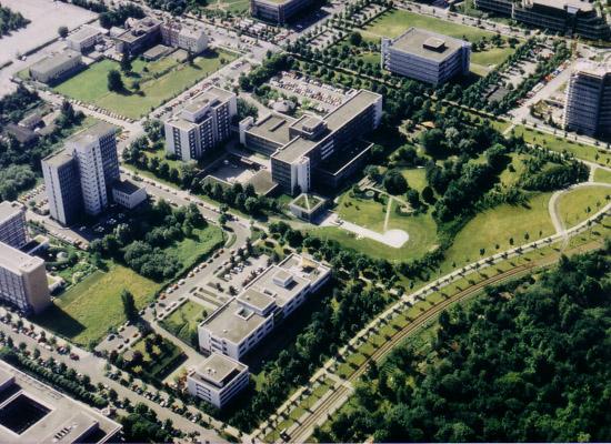 Luftbild des Sankt Vincentius Krankenhaus