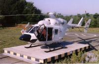 Hubschrauber des Typs BK 117 waren immer wieder als Ersatz der BO 105 in Karlsruhe…