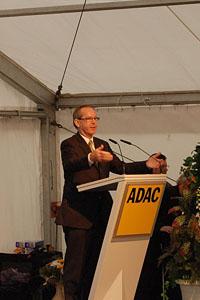 Peter Meyer, Präsident des ADAC, bei seiner Rede