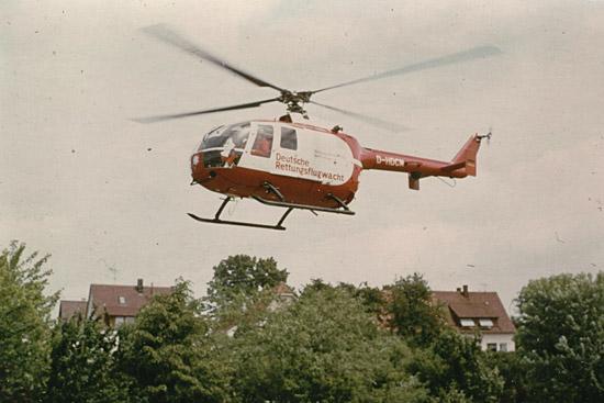 """BO 105 """"D-HDCM"""" vermutlich ebenfalls in Ludwigsburg, der exakte Aufnahmeort war nicht mehr zweifelsfrei zu identifizieren"""