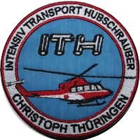 ...und der derzeit offizielle Stationsaufnäher seit ca. 2006. Aufnäher des LRZ Bad Berka mit Motiv einer Bell 412 des HDM im Wandel der Zeit!