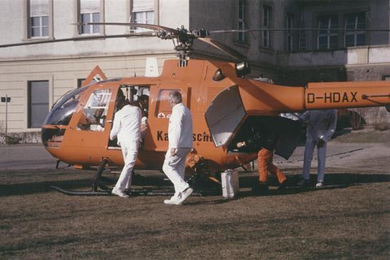 Einsatz: Der Katastrophenschutz zeigte in der Vergangenheit in Ochsenfurt Flagge für die Luftrettung, hier mit der BO 105 D-HDAX