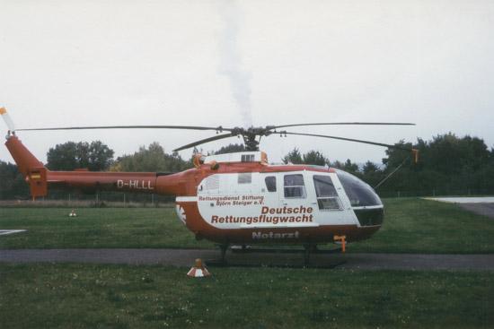 """Die BO 105 """"D-HLLL"""" der DRF im Juni 1996"""
