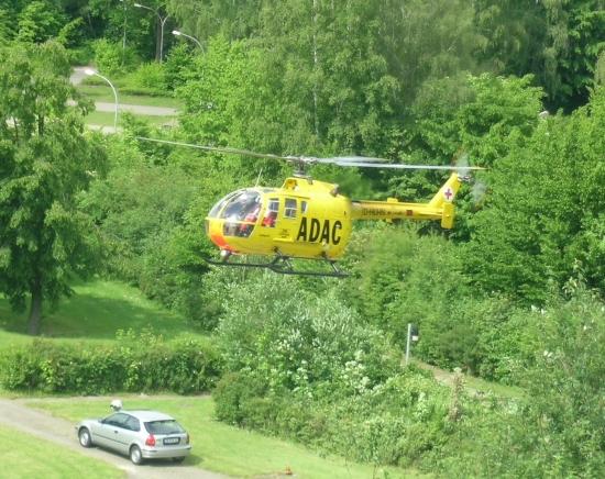 Seit April 1983 kam in Uelzen eine BO-105 CBS zum Einsatz....