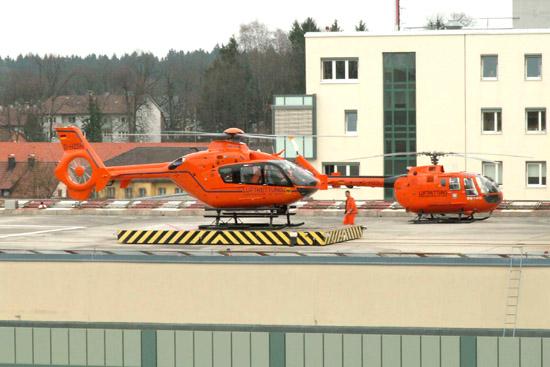 Wechsel von BO 105 auf EC 135 am Standort Traunstein