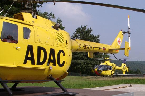 Ankunft der neuen EC 135 am 30. August 2002