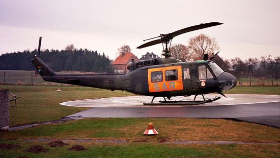 Nach der Auflösung des HTG 64 wird die UH-1D von der Hubschrauberstaffel der Flugbereitschaft BmVg aus Nörvenich gestellt