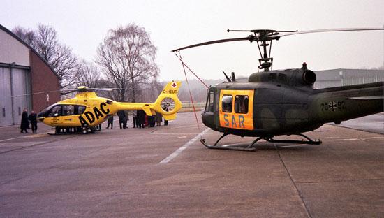 1998: Feierliche Übergabe der neuen EC-135 T1 auf dem Heeresflugplatz Rheine-Bentlage