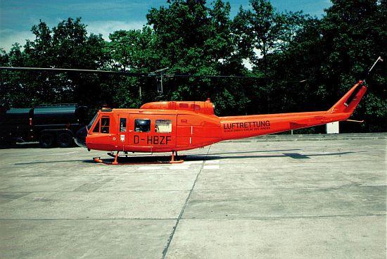 Die UH-1D an der Station auf dem Marienberg. Der Typ wurde dort bis 1997 eingesetzt