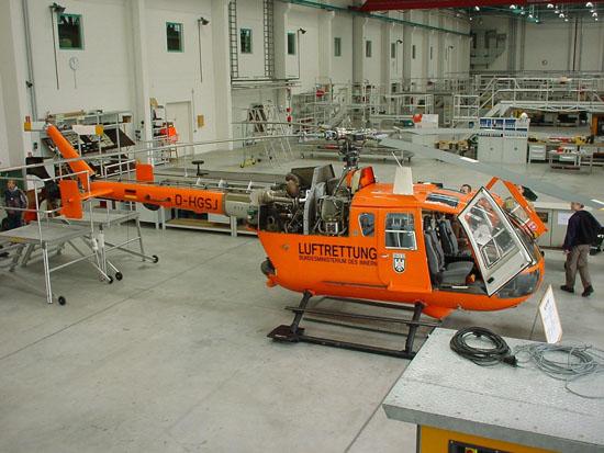 Die BO 105 CBS-5 löste 1997 in Brandenburg zunächst die UH-1D ab. Die fliegerische und technische Betreuung obliegt der Bundespolizei-Fliegerstaffel Blumberg bei Berlin