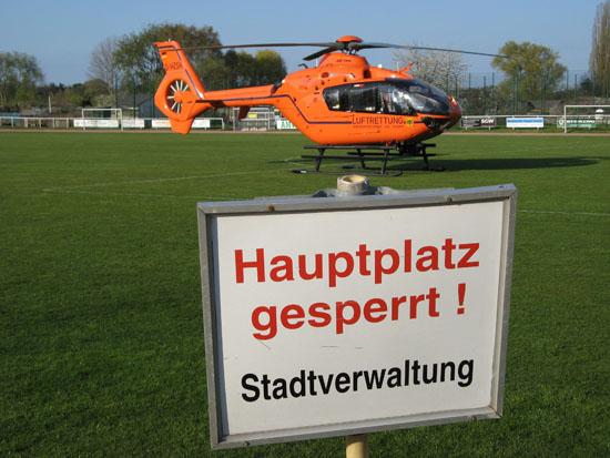 Wie an allen anderen ZSH-Standorten kommt seit 2007 auch in Brandenburg eine EC-135 T2i zum Einsatz