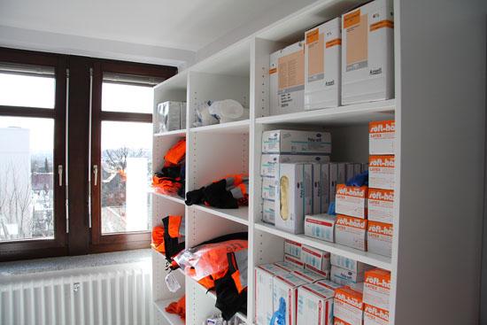 Ein neuer Raum für das Materiallager wurde geschaffen