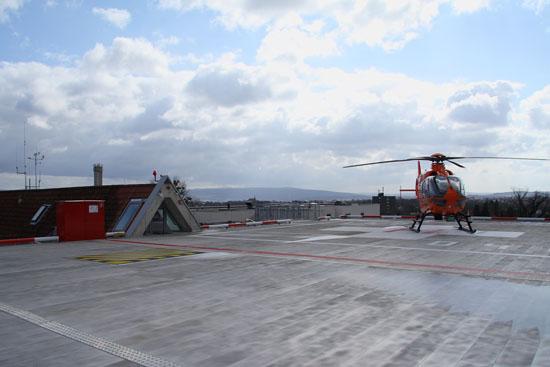 Die neu gestaltete Landeplattform in Aluminiumbauweise