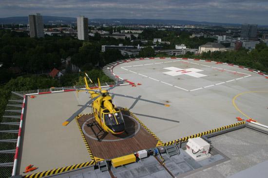 Der neue Dachlandeplatz mit Station und Hubschrauberlandeplatz wurde 2008 gebaut