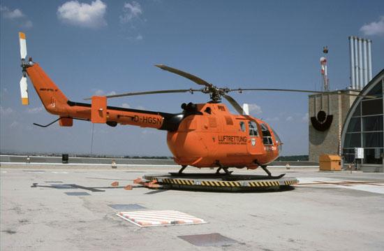 Die BO-105 CBS-5 löste die kürzere CB mitte der neunziger Jahre auch in Frankfurt ab und bleib in Frankfurt bis zum Frühjahr 2008 im Dienst. Ab 1997 wird vom neu errichteten Dachlandeplatz aus geflogen.