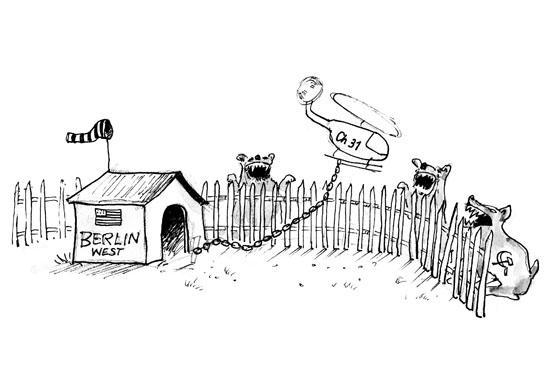 Karikatur der damaligen Berliner Verhältnisse von Gerhard Kugler