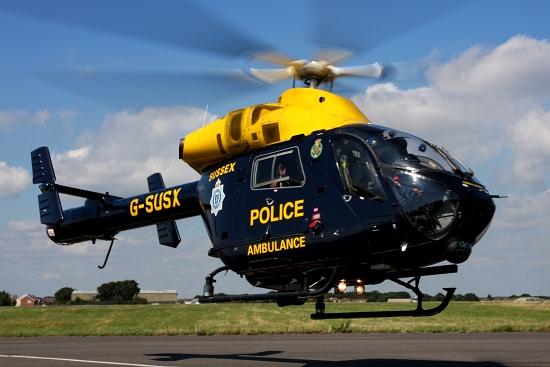 """Flugvorführung der """"Sussex Police"""" aus dem Vereinigten Königreich (UK)"""