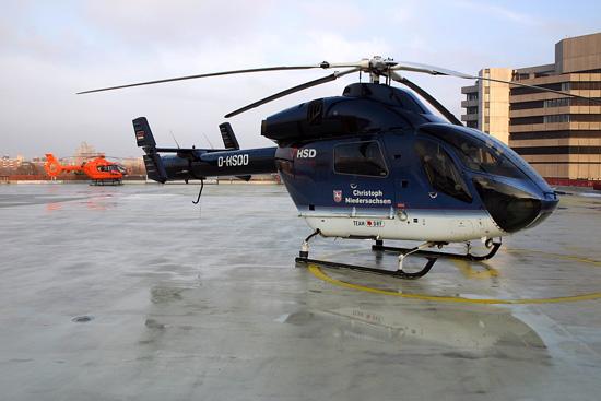 Der Hubschrauber Sonder Dienst (HSD) stellte als erster Luftrettungsbetreiber in Deutschland die MD 900 in Dienst
