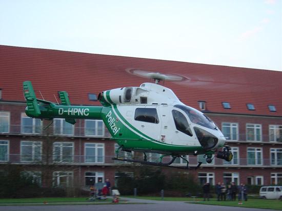MD 902 im Einsatz der Polizeihubschrauberstaffel Niedersachsen